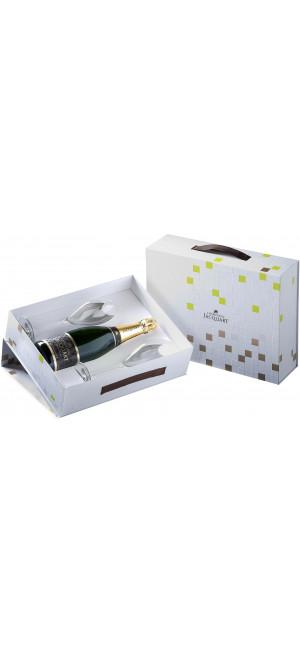 "Шампанское Champagne Jacquart, Brut ""Mosaique"", gift box with two glasses 0,75 л"