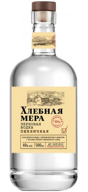 """Водка """"Хлебная Мера"""" Пшеничная, 0.5 л"""