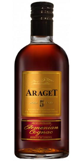 "Коньяк ""Araget"" 5 Years Old, gift box, 0.5 л"