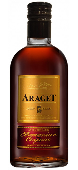 "Коньяк ""Araget"" 5 Years Old, gift box, 0.5 л"