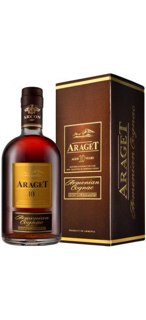 "Коньяк ""Araget"" 10 Years Old, gift box, 0.5 л"