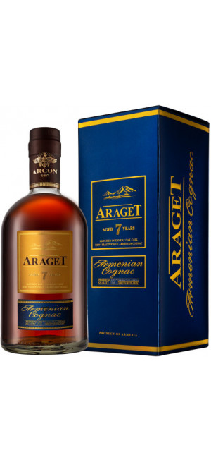 "Коньяк ""Araget"" 7 Years Old, gift box, 0.5 л"