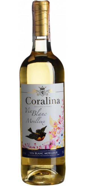 """Вино """"Coralina"""" Blanc Moelleux, 0.75 л"""