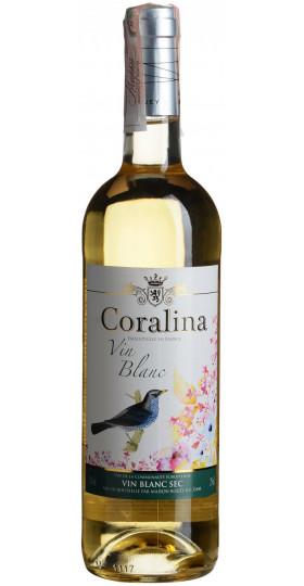 "Вино ""Coralina"" Blanc Sec, 0.75 л"