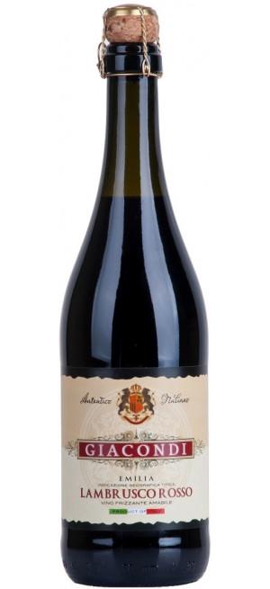 """Игристое вино """"Giacondi"""" Lambrusco Rosso, Emilia IGT, 0.75 л"""