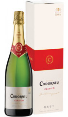 "Игристое вино ""Codorniu"" Clasico Brut, gift box 0.75 л"