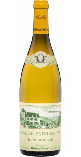 """Вино Billaud-Simon, Chablis Premier Cru """"Mont de Milieu"""", 2018, 0.75 л"""