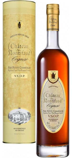 Коньяк Chateau de Montifaud VSOP, Fine Petite Champagne AOC, gift tube, 0.7 л