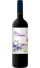 """Вино Les Celliers Jean d'Alibert, """"Cloce du Charme"""" Merlot, Pays d'Oc IGP, 2019, 0.75 л"""