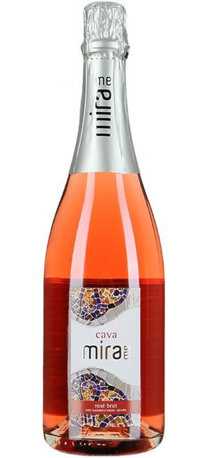 """Игристое вино """"Mirame"""" Rose Brut, Cava DO, 0.75 л"""