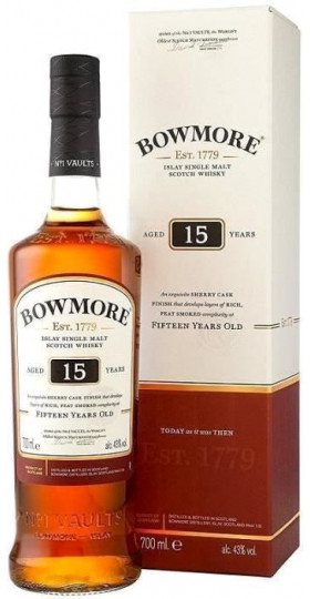 """Виски """"Bowmore"""" 15 Years Old, gift box, 0.7 л"""