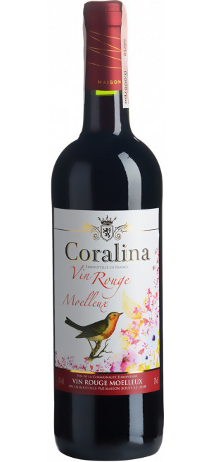"""Вино """"Coralina"""" Rouge Moelleux, 0.75 л"""
