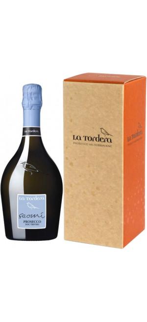 "Игристое вино La Tordera, ""Saomi"" Prosecco, Treviso DOC, gift box, 1.5 л"
