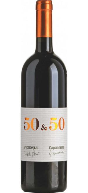 "Вино Avignonesi-Capannelle, ""50 & 50"", Vino da Tavola di Toscana IGT, 2016, 0.75 л"