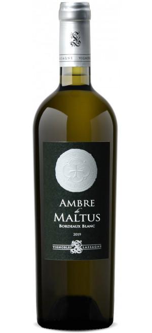 """Вино """"Ambre de Maltus"""", Bordeaux AOC Blanc, 2019, 0.75 л"""