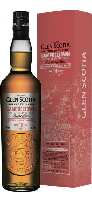 Виски Glen Scotia, Bordeaux Cask Finish, 10 Years Old, in gift box, 0.7 л