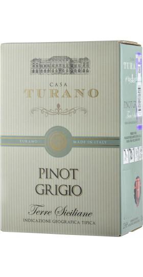 """Вино """"Pinot Grigio, Terre Siciliane, Casa Turano"""", 2.25 л"""