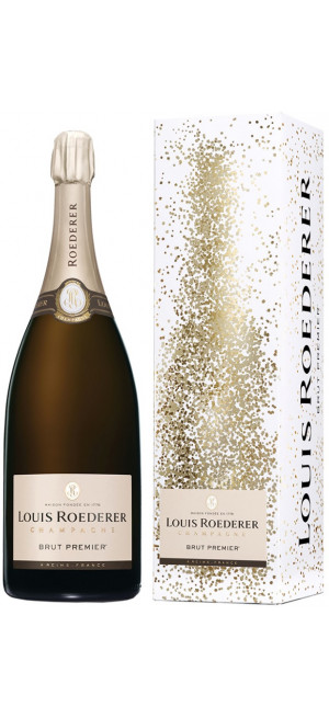 "Шампанское Louis Roederer, Brut Premier AOC, gift box ""Deluxe"", 1.5 л"