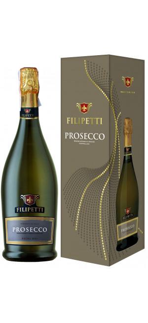 "Игристое вино ""Filipetti"" Prosecco DOC Extra Dry, gift box, 0.75 л"