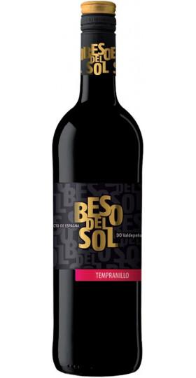 """Вино """"Beso del Sol"""" Tempranillo, Valdepenas DO, 0.75 л"""