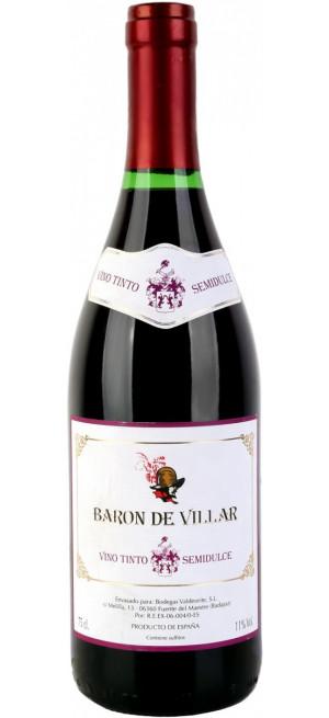 "Вино ""Baron de Villar"" Tinto Semidulce, 0.75 л"