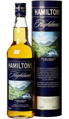 "Виски ""Hamiltons"" Highland Single Malt, in tube, 0.7 л"