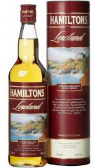 "Виски ""Hamiltons"" Lowland Single Malt, in tube, 0.7 л"