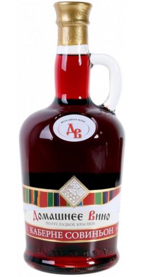 "Вино Vinprom Rousse, ""Domashnee Vino"" Cabernet Sauvignon, 0.75 л"