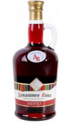 """Вино Vinprom Rousse, """"Domashnee Vino"""" Merlot, 0.75 л"""