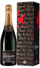 "Шампанское Lanson, ""Black Label"" Brut, gift box, 0.75 л"