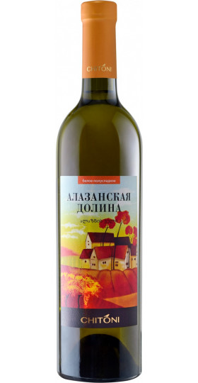"Вино Chitoni, ""Alazani Valley"" White, 0.75 л"