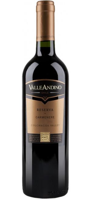 """Вино Valle Andino, Carmenere """"Reserva"""", 2016, 0.75 л"""
