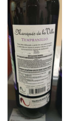 Вино Marqués de la Villa, Tempranillo, 0.75 л