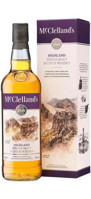 "Виски ""McClelland's"" Highland, gift box, 0.7 л"