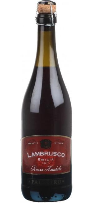 """Игристое вино """"Palestro"""" Lambrusco Emilia IGT Rosso Amabile, 0.75 л"""