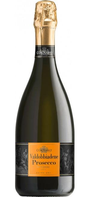 """Игристое вино """"Cornaro"""" Valdobbiadene Prosecco Superiore DOCG Extra Dry, 0.75 л"""