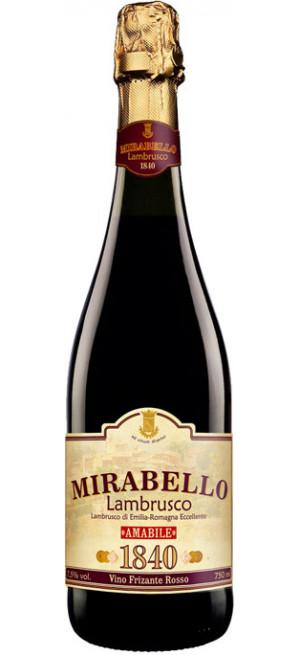 """Игристое вино Chiarli 1860, """"Mirabello"""" Rosso, Lambrusco di Emilia-Romagna IGT, 0.75 л"""