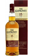"""Виски """"The Glenlivet"""" 15 years, with box, 0.7 л"""