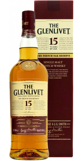 "Виски ""The Glenlivet"" 15 years, with box, 0.7 л"