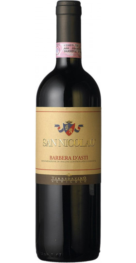 "Вино Terre da Vino, ""San Nicolao"", Barbera d'Asti DOCG, 2018, 0.75 л"