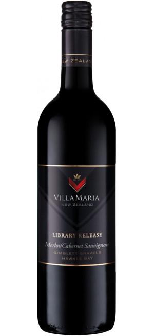 """Вино Villa Maria, """"Library Release"""" Merlot-Cabernet Sauvignon, 2010, 0.75 л"""