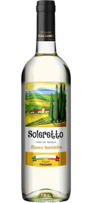 """Вино """"Soleretto"""" White Semisweet, 0.75 л"""