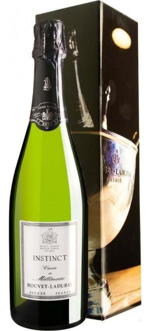 """Игристое вино Bouvet Ladubay, """"Instinct"""" Cuvee de Millenaire Brut, Saumur AOC, 2015, gift box, 0.75 л"""