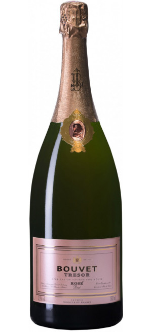 """Игристое вино Bouvet Ladubay, """"Tresor"""" Rose Brut, Saumur AOC, 1.5 л"""
