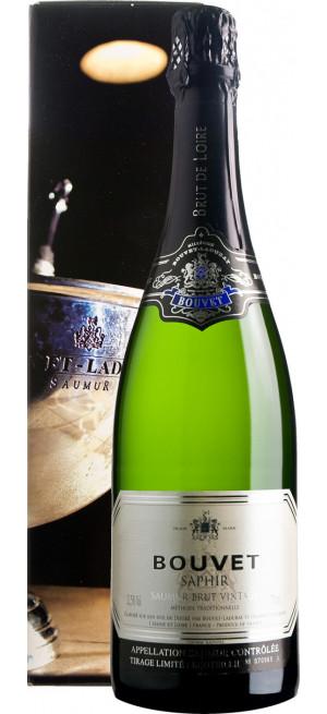 """Игристое вино Bouvet Ladubay, """"Saphir"""" Brut Vintage, Saumur AOC, 2014, gift box, 1.5 л"""