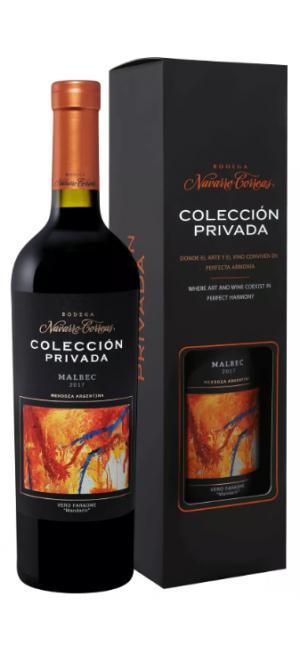 Вино Coleccion Privada Malbec Red Dry, gift box 0.75 л