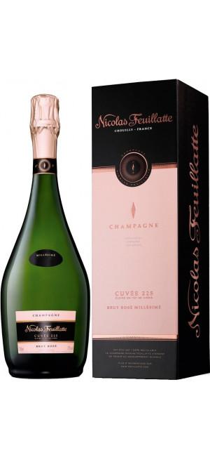 "Шампанское Nicolas Feuillatte, ""Cuvee 225"" Brut Rose, 2008, gift box, 0.75 л"