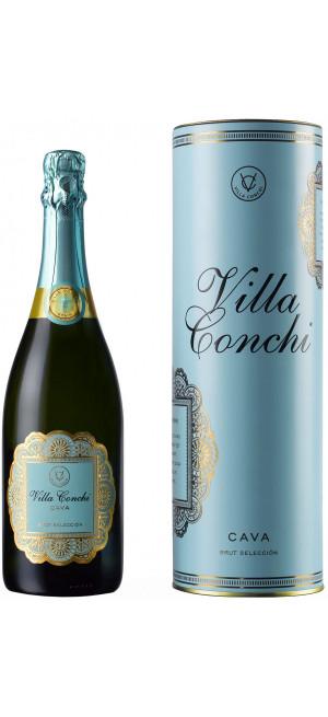 Игристое вино Villa Conchi, Cava Brut Seleccion, gift box, 0.75 л